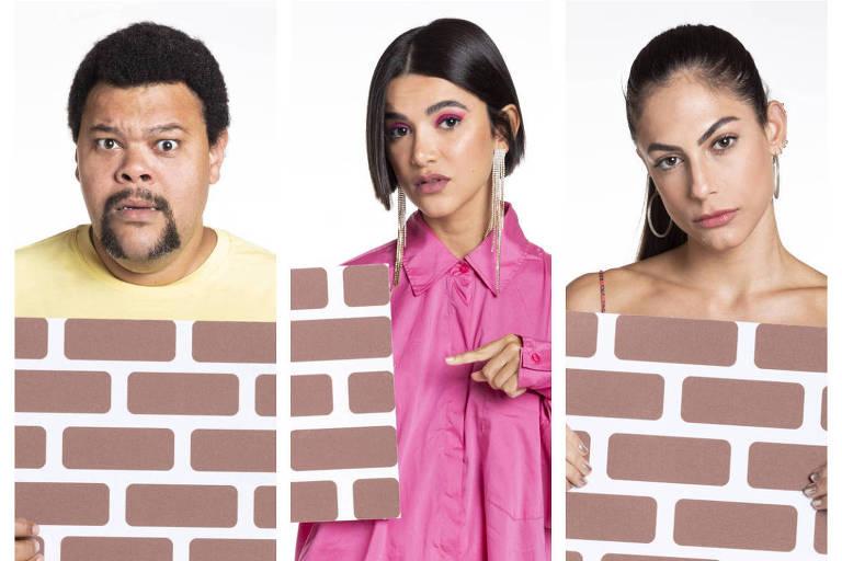 Montagem com fotos de Babu, Manu e Mari