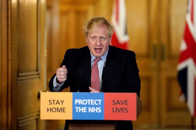O primeiro-ministro conservador, Boris Johnson, que está sob ataque da oposição por ter demorado para perceber a gravidade da pandemia de coronavírus