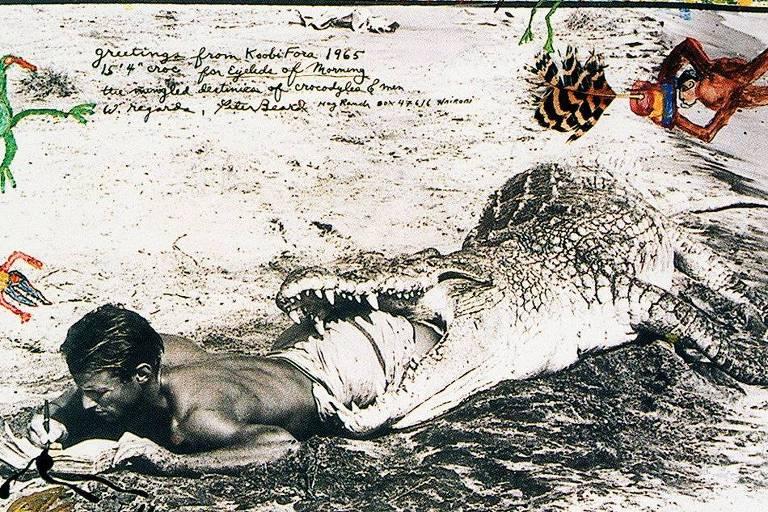 """Autorretrato de Peter Beard em """"Diárias Africanos"""", de 1965"""