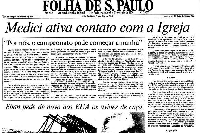 1970: Seleção brasileira vence último teste antes da Copa do Mundo