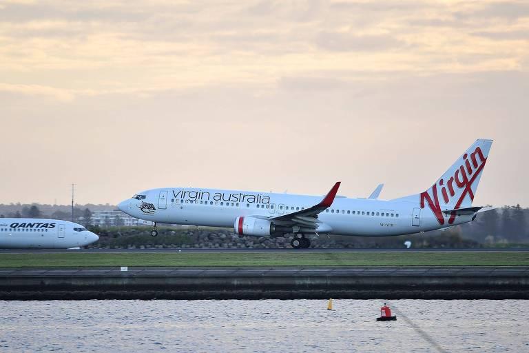 Endividada, 2ª maior empresa aérea da Austrália suspende pagamento de dívidas