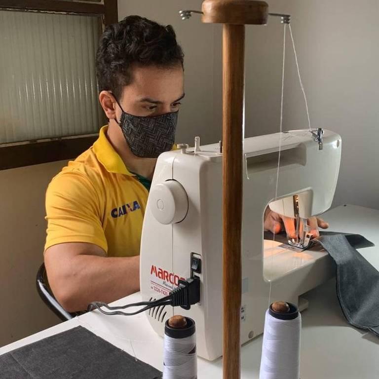 Ensaio de máscaras - proteção durante a pandemia do coronavírus