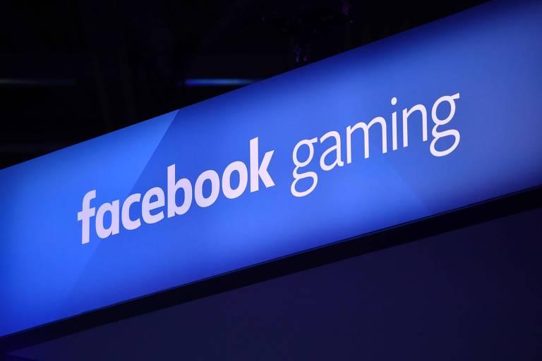 """Logo do """"facebook gaming"""" na Gamescom de 2019"""