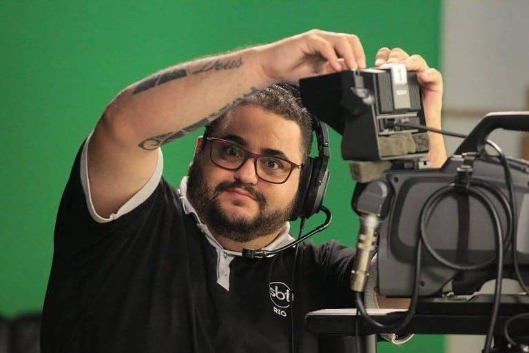 O câmera Robson Thiago Mesquita, do SBT Rio, morto após contrair o novo coronavírus