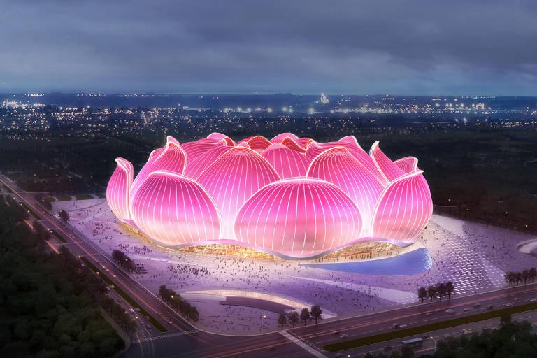 Estádio chinês terá capacidade para 100 mil torcedores