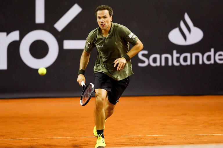 Bruno Soares em ação no Rio Open 2020