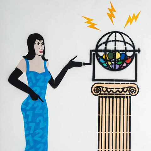 São Paulo, SP, Brasil, 19-04-2020: Categoria consórcio. Reprodução de ilustrações feitas pelo grafiteiro Ozi para a revista especial OMSP Serviços. As ilustrações foram inspiradas no trabalho de Alex Vallauri, um dos pioneiros do grafitti no Brasil (foto Gabriel Cabral/Folhapress)