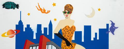 São Paulo, SP, Brasil, 19-04-2020: Abertura da revista. Reprodução de ilustrações feitas pelo grafiteiro Ozi para a revista especial OMSP Serviços. As ilustrações foram inspiradas no trabalho de Alex Vallauri, um dos pioneiros do grafitti no Brasil (foto Gabriel Cabral/Folhapress)