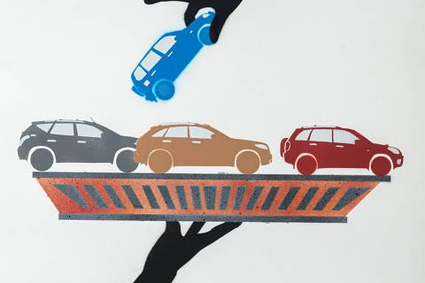 São Paulo, SP, Brasil, 19-04-2020: Categoria rede concessionaria. Reprodução de ilustrações feitas pelo grafiteiro Ozi para a revista especial OMSP Serviços. As ilustrações foram inspiradas no trabalho de Alex Vallauri, um dos pioneiros do grafitti no Brasil (foto Gabriel Cabral/Folhapress)