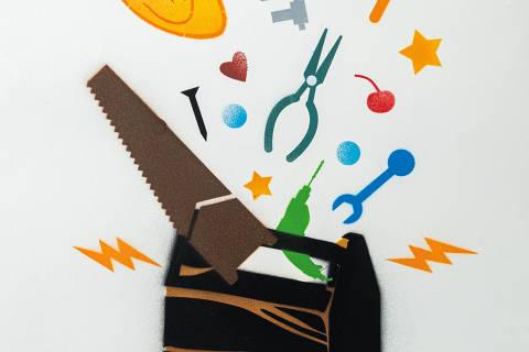 São Paulo, SP, Brasil, 19-04-2020: Categoria assistência técnica. Reprodução de ilustrações feitas pelo grafiteiro Ozi para a revista especial OMSP Serviços. As ilustrações foram inspiradas no trabalho de Alex Vallauri, um dos pioneiros do grafitti no Brasil (foto Gabriel Cabral/Folhapress)
