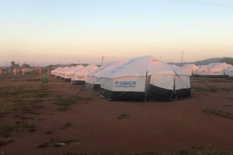 O campo de refugiados Dzaleka, no Maláui