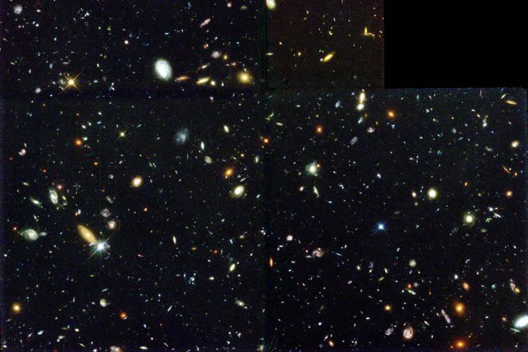Imagem do telescópio Hubble com milhares de galáxias distantes