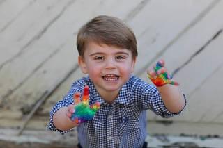 Britain's Prince Louis celebrates his second birthday