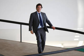 Brazil's Chief of the Secretariat of Social Communication (SECOM) Fabio Wajngarten is seen at the Planalto Palace, amid the coronavirus disease (COVID-19) outbreak, in Brasilia