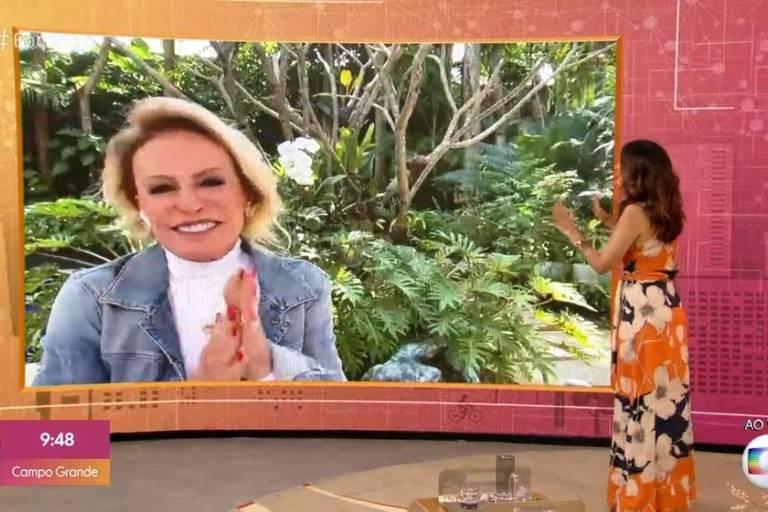 Ana Maria Braga anuncia recuperação do câncer no programa de Fátima Bernardes