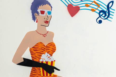 São Paulo, SP, Brasil, 17-04-2020: Categoria cinema. Reprodução de ilustrações feitas pelo grafiteiro Ozi para a revista especial OMSP Serviços. (foto Gabriel Cabral/Folhapress)