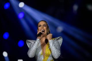 Ivete Sangalo durante sua apresentação, no Rock in Rio 2019