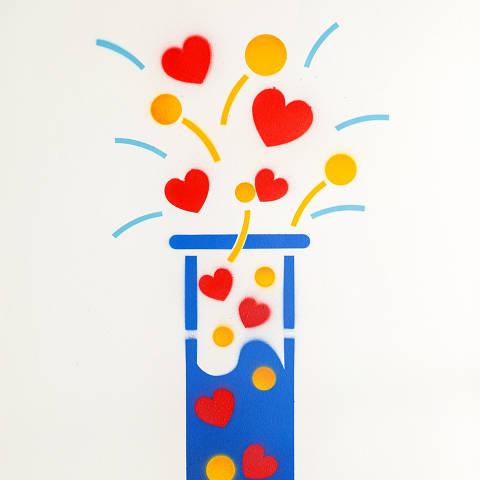 São Paulo, SP, Brasil, 12-04-2020: Categoria laboratório de analises clínicas. Reprodução de ilustrações feitas pelo grafiteiro Ozi para a revista especial OMSP Serviços. As ilustrações foram inspiradas no trabalho de Alex Vallauri, um dos pioneiros do grafitti no Brasil (foto Gabriel Cabral/Folhapress)