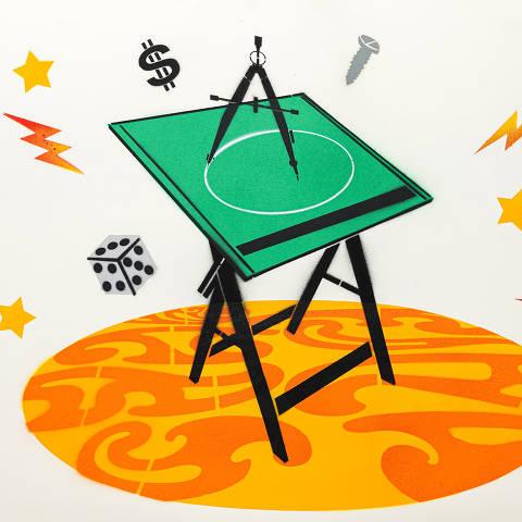 São Paulo, SP, Brasil, 12-04-2020: Categoria curso técnico profissionalizante. Reprodução de ilustrações feitas pelo grafiteiro Ozi para a revista especial OMSP Serviços.As ilustrações foram inspiradas no trabalho de Alex Vallauri, um dos pioneiros do grafitti no Brasil  (foto Gabriel Cabral/Folhapress)