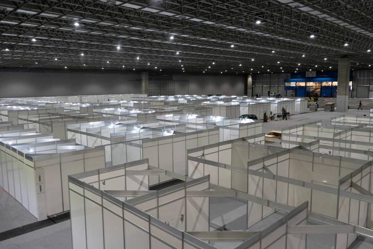 Hospitais de campanha no Rio