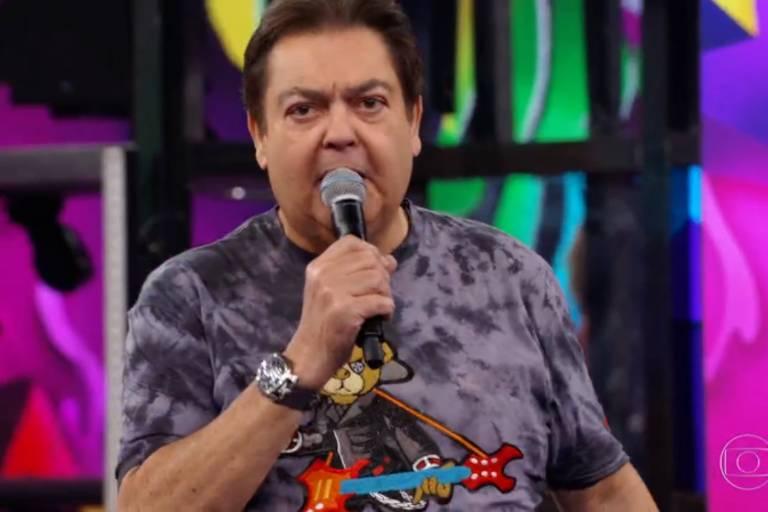 Faustão usa camiseta com estampa de ursinho no 'Domingão'