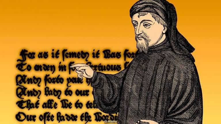 """""""Contos de Canterbury"""", clássico da literatura inglesa, escrito por Chaucer, tem como pano de fundo a peste negra"""