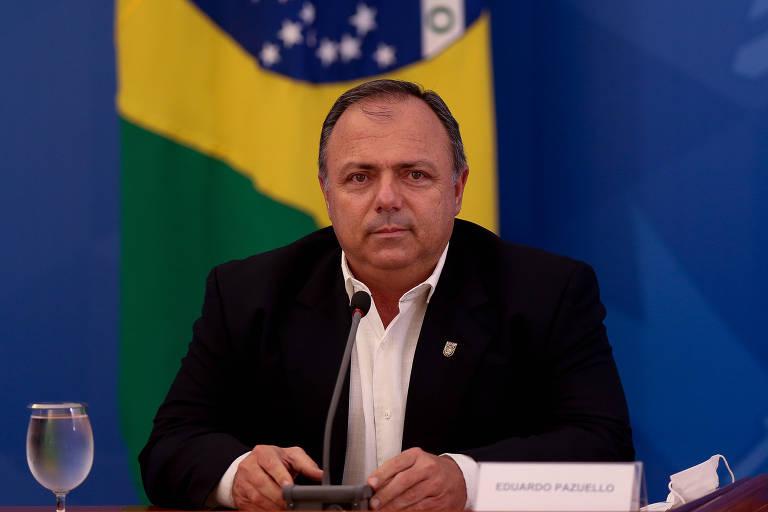 Eduardo Pazuello, ministro interino da Saúde, quando era secretário na gestão Nelson Teich