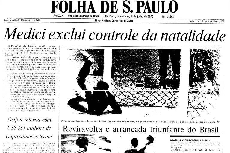 1970: Brasil estreia na Copa com goleada de virada sobre a Tchecoslováquia