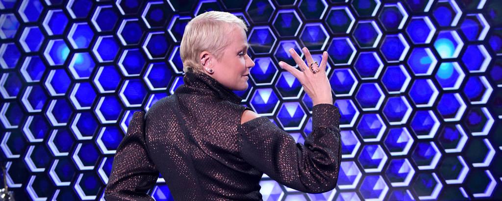 Xuxa no palco do The Four Brasil