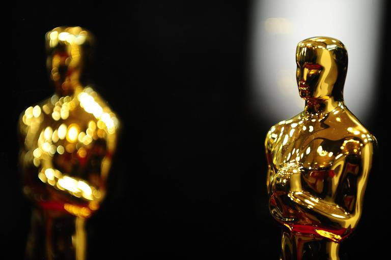 Estatuetas do Oscar em detalhe