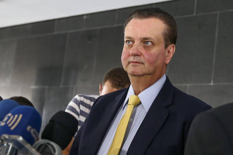 O presidente do PSD, Gilberto Kassab, após encontro com Bolsonaro no ano passado