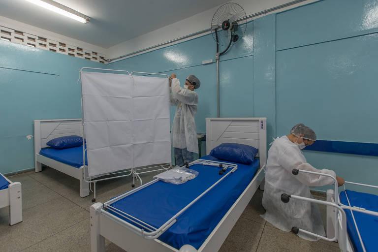 Centro de acolhimento aguarda pacientes com coronavírus em Paraisópolis