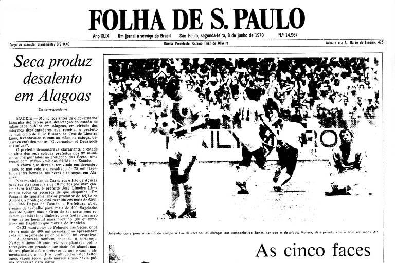 1970: Seleção brasileira esmaga Inglaterra com um só gol na Copa do Mundo