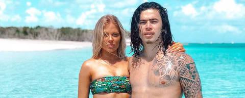 Whindersson Nunes com a esposa Luísa Sonza em Providenciales, Turks And Caicos Islands
