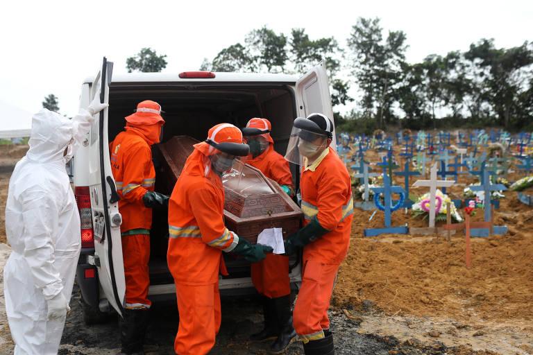 Explosão de enterros em Manaus