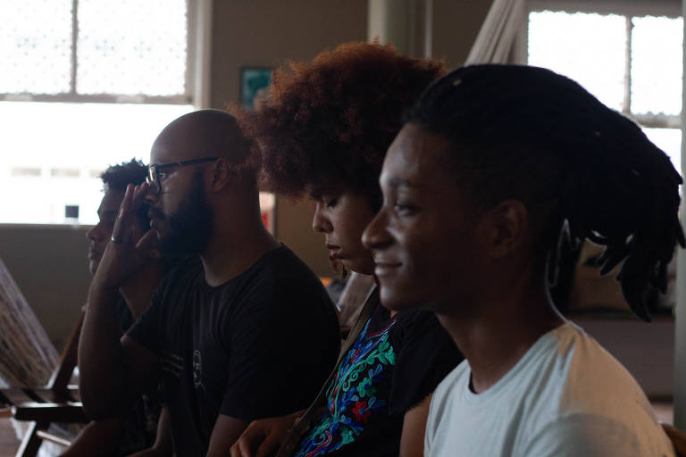 Participantes do Encontro do Movimento Negro Evangélico de Pernambuco, em Recife