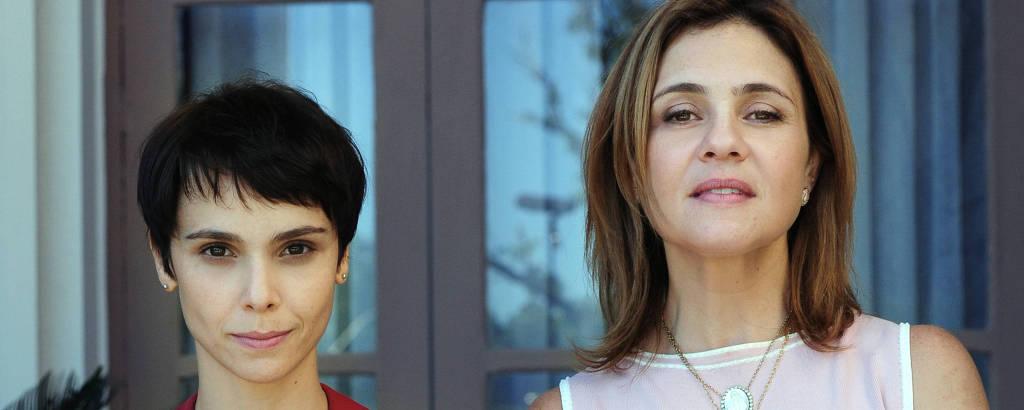 Nina ( Debora Falabella ) e  Carminha ( Adriana Esteves ), em Avenida Brasil (Globo)