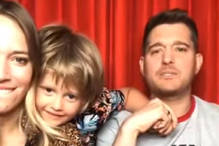 Luisana Lopilato, Michael Bublé e o filho Noah