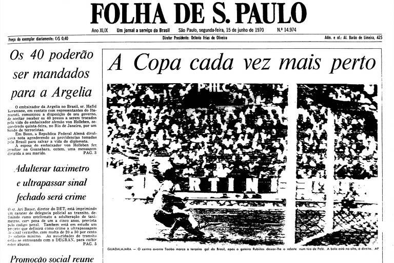 1970: Brasil derrota Peru e fica mais perto de conquistar Copa do Mundo