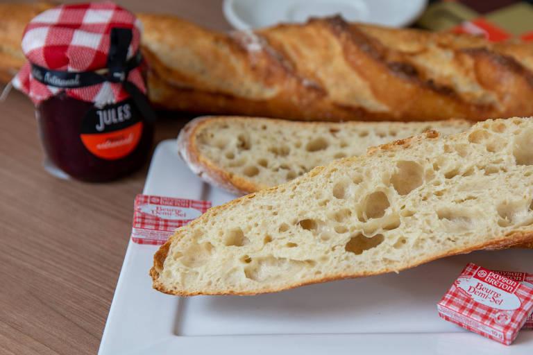 Baguete tradicional da padaria Jules