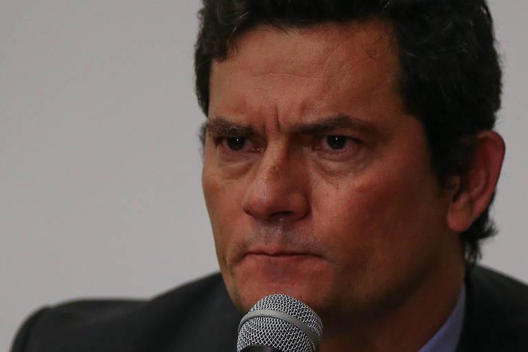 O ex-ministro Sergio Moro, no dia em que anunciou sua demissão
