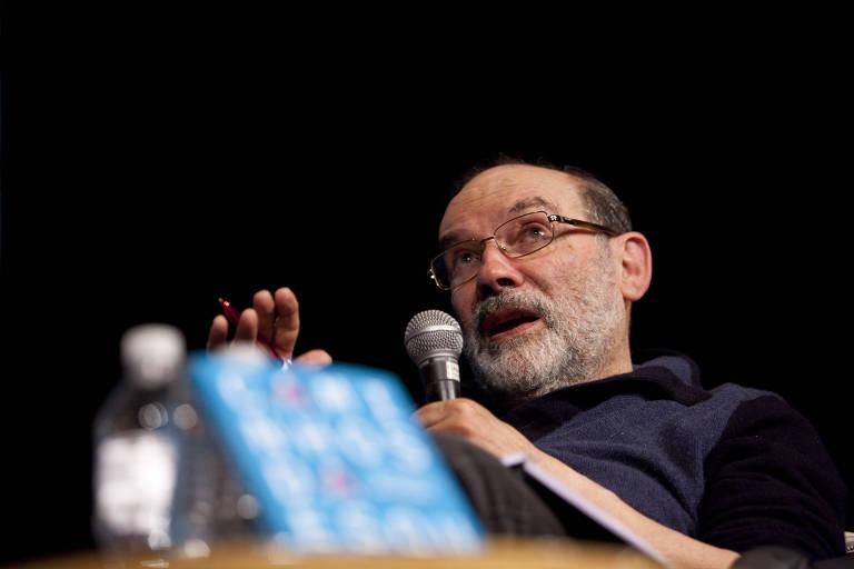 O filósofo Ruy Fausto participa de debate em São Paulo sobre seu livro 'Caminhos da Esquerda', em 2017