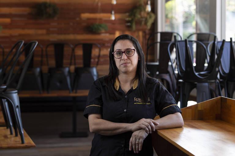 Adislene Araújo Pereira, 36, dona do restaurante Fazendinha, na zona sul de São Paulo