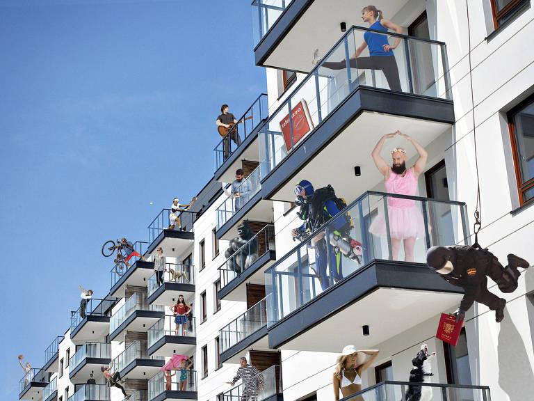 pessoas em janelas