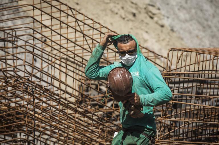 Construção civil não para durante a quarentena