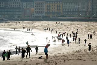 Spain emerges from lockdown during the global outbreak of the coronavirus disease (COVID-19) in San Sebastian