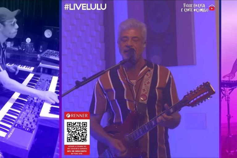 Divertido e com ótimo humor, Lulu Santos desfila sua fábrica de hits em live