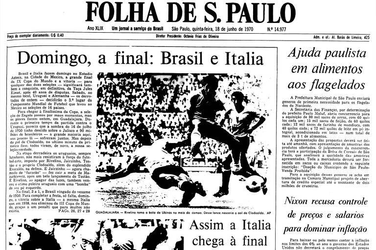 1970: Brasil vence Uruguai e vai encarar Itália na final da Copa do Mundo