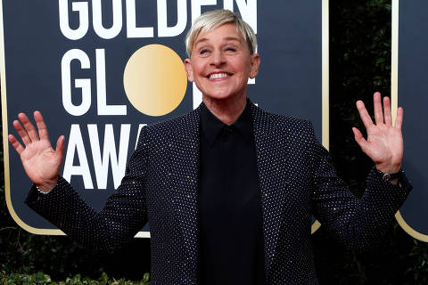 FILE PHOTO: 77th Golden Globe Awards - Arrivals - Beverly Hills, California, U.S., January 5, 2020 - Ellen DeGeneres. REUTERS/Mario Anzuoni/File Photo ORG XMIT: FW1