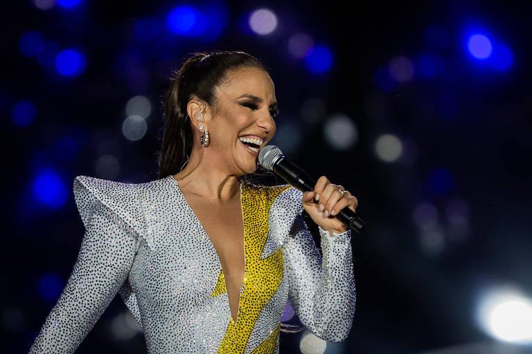 Show da cantora Ivete Sangalo, no palco Mundo, durante o terceiro dia do primeiro final de semana do festival Rock in Rio, no Parque Olímpico